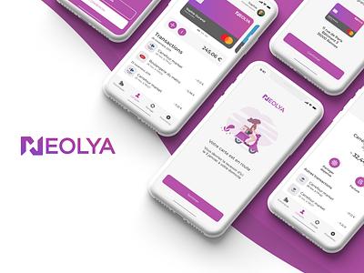 Neolia - IU/UX concept neobank ux design ui design bank app