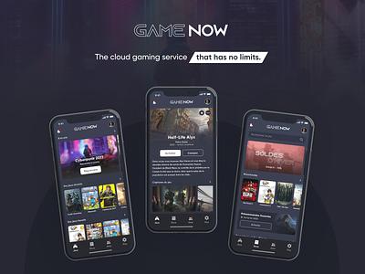 Game Now - IU/UX concept gaming ux design shop application cloud gaming ui design video games
