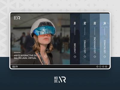 Laval Virtual - Web Documentary augmented reality virtual reality art vr online web development logo design web design virtual project ux design ui design website web documentary