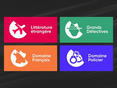 Editorial book logos - Concept ui flat flatdesign illustrator literature vector illustration logo design affinity concept logo