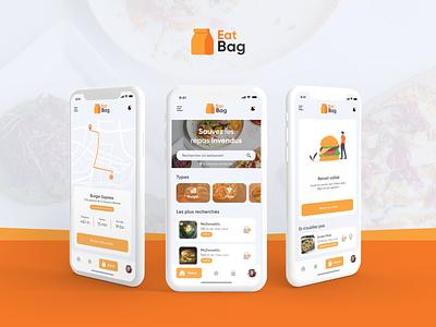 Eat Bag V2 - IU/UX Motion concept app bag animation illustration after effect design application adobe xd logo vector ui web design ux design ui design
