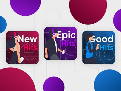 Music Playlist - Graphic concept idenity cover playlist website music player audio spotify streaming music web app icon typography branding affinity design illustration vector logo ui design