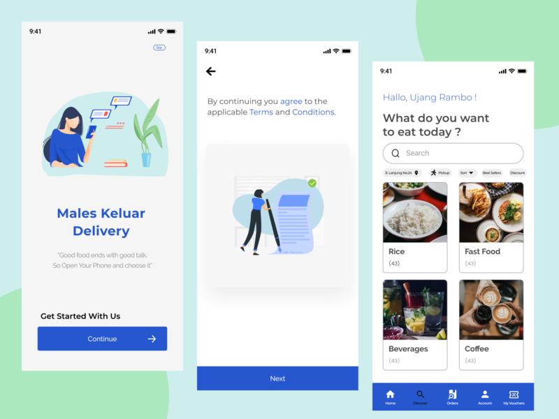 Food App Design Exploration mobile app design mobile delivery food app iphone 11 iphone ui figma design coffee illustration