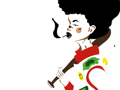 black lives matter girl design illustration ai