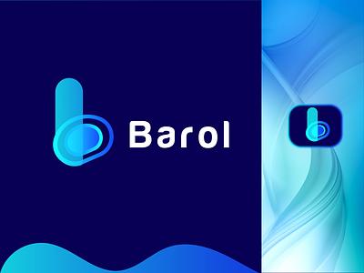 Barol Modern B Letter Logo Design creative custom b logo symbol app icon vector abstract modern logodesign logo design logo branding brand identity