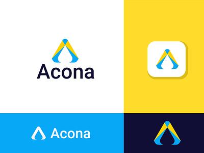 Acona - Logo Design logomaker minimal minimalist corporate identity company logo business logo a logo custom modern design agency creative looking designer need logo symbol flat app icon logo design logo brand identity branding