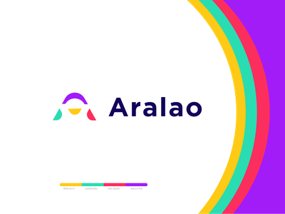 Aralao - Logo Design custom creative logo icon colorfull business branding concept need logo branding and identity simple and clean logoinspirations logo and branding logomark a letter logo modern minimal logo simple logo brand identity branding logo design logo
