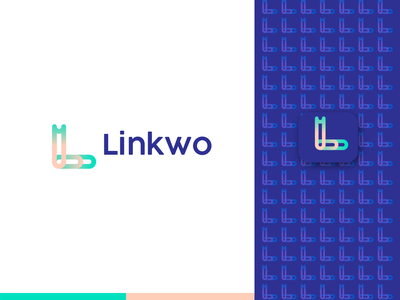 Linkwo - Logo Design company logo network symbol software online branding design modern looking designer need logo designer l logo brand identity branding technology link cable connect connection internet logo design logo