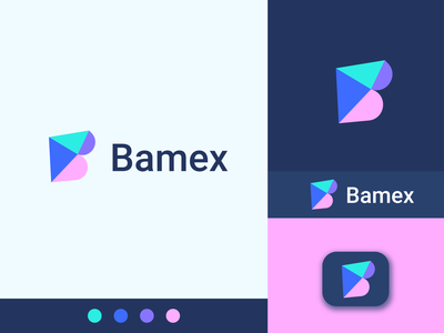 Bamex Logo Design flat saas logo simple and clean logo and branding startup visual identity bank finance software modern app icon minimalist logo minimal b logo logotype typography brand identity logo design branding logo