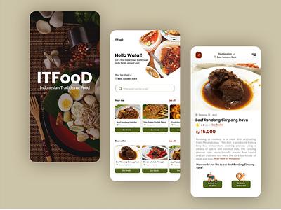 UI ITFooD app mobile app mobile design ux ui mobile ui design