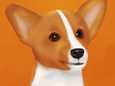 Doggie digital illustration animal dog art procreate digital painting digital art digitalart illustration