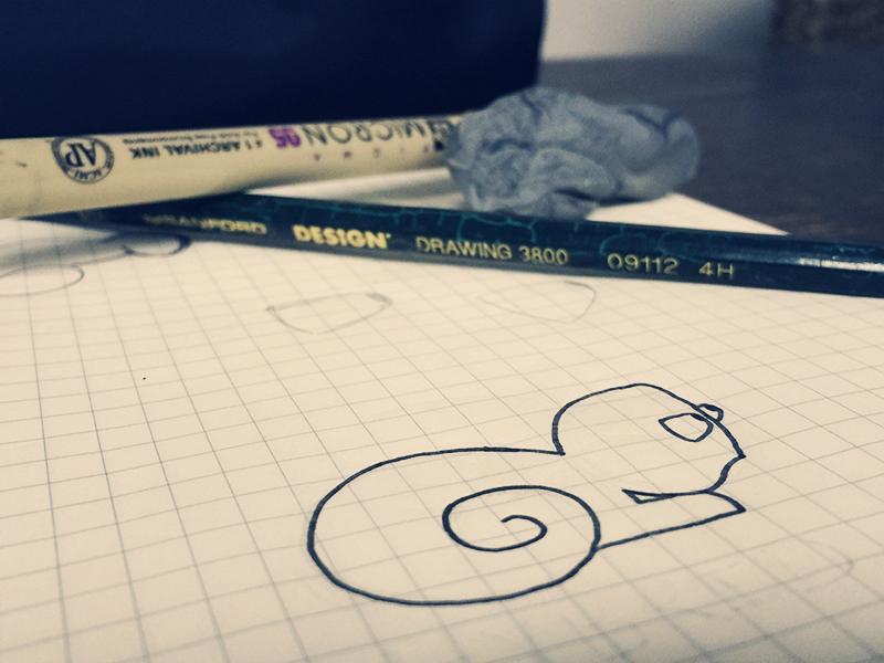 Chameleon Doodle pen drawing doodle chameleon
