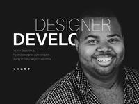Homepage Design - Personal Site