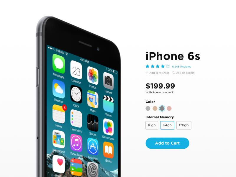 Daily UI #12 - Single Product gotham clean product ecommerce iphone apple dailyuichallenge dailyui