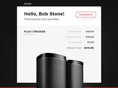 Daily UI #17 - Email Receipt