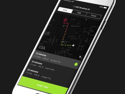 Daily UI #20 - Location Tracker iphone ios gps tracker tracking location dailyuichallenge dailyui