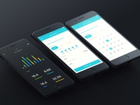 To Do App dark stats stat graph list to-do mobile app
