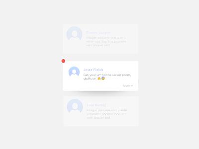 Notification message text persona notification ui