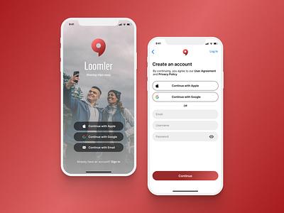 Daily UI Challenge #1 - Sign Up app login signin signup ux design app ui dailyuichallenge dailyui ui