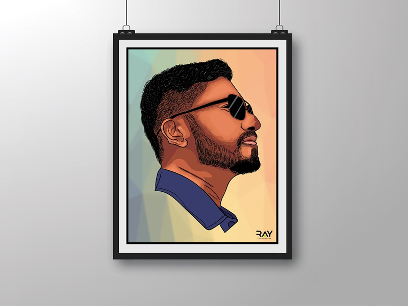 Vector Portrait - Fazle Fahad black glass adobe illustrator art cartoon charecter design comics creative design drawing graphics human face illustration art portrait rayphotostration remote work sketch trendy design vectorart vector illustration vector portrait visual design