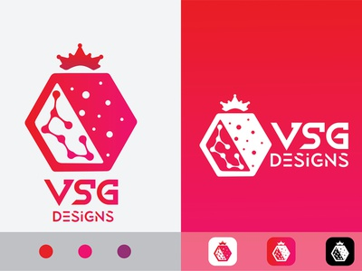 Logo - VSG Designs pomegranate logo gradient logo typography logo ui design app icon icon design logo icon wordmark logo minimal logo minimalist logo simple logo creative logo identity logo brand identity branding logo brand logo logo trendy design illustration rayphotostration