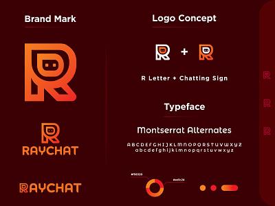 Logo - RayChat minimal logo rayphotostration illustration trendy design creative logo icon design icon wordmark logo logo mark messaging app logo app icon logo icon logo identity logo identity design brand logo brand identity branding brand