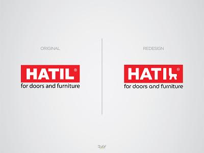 Logo Redesign - HATIL generic logo minimal logo trendy logo creative logo furniture logo logo icon wordmark logo logo mark hatil logo hatil logo redesign logo redesign logo brand logo brand identity branding brand rayphotostration