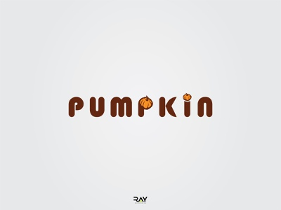 Logo - Pumpkin brown logo yellow logo pumpkin logo creative logo simple logo logo icon logo mark wordmark logo rayphotostration trendy design illustration identity design brand identity branding brand logo brand logo