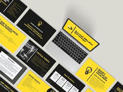 LST Google Slides Presentation Design photoshop mockup black and yellow branding and identity brand design ui branding social media strategy social media ppt power point presentation google slides presentation