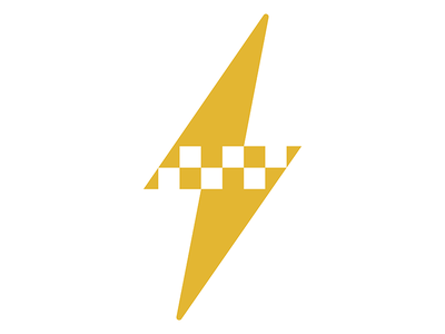 Electric Taxi gold thunderbolt lightning storm identity logo green pattern cab electricity taxi electric
