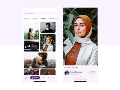 Photographers' Social Network - UI Concept uidesign design app ui