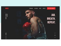 Boxing Academy Landing Page academy web web design uidesign ui design page landing boxers boxer boxing gloves boxing glove boxing landingpage landing design landing page design landing page