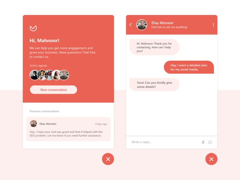 Chat Widget - Concept UI web ui web design webdesign design concept widgets widget chatbot chat
