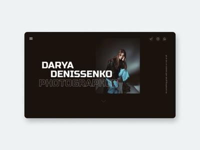Photographer portfolio website tilda portfolio art website minimal typography inspiration website design web design webdesign web ux ui design