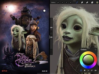 The Dark Crystal: Age of Resistance ipad art ipad pro jim henson netflix procreate app procreate poster design poster art design poster illustration