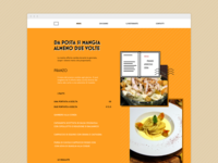 Menu page for a postal-themed restaurant website