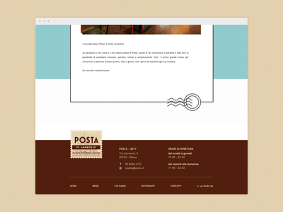 Footer for a postal-themed restaurant website postal service footer restaurant web design