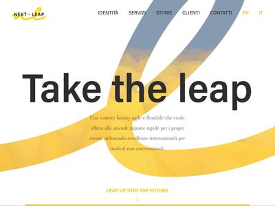 Web design for event marketing agency webgl