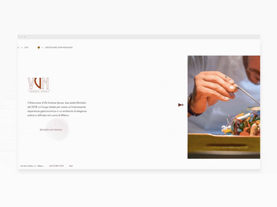 Background scroll transition horizontal photography food michelin restaurant web design