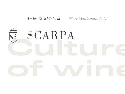 Titles wine typography web design