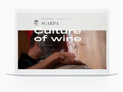 Wine producer website web design