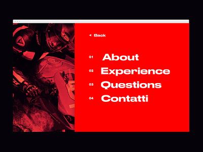 Open menu racing motorcycle motorbike bike web design