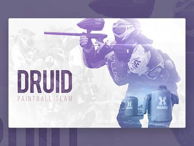 DRUID Paintball team design graphic sport card team paintball
