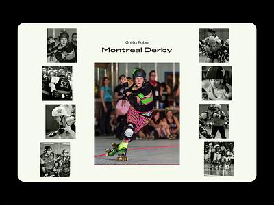 Canada Roller Derby Gallery gallery canada aesthetic retro typography motion website design ui design ui design animation