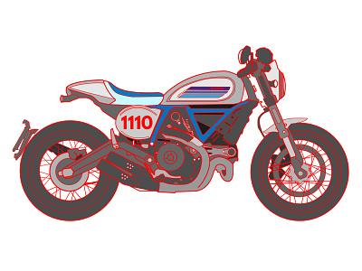 Custom graphics, built for speed! japan osaka logo graphic speed motorcycle scrambler ducati