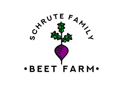 Schrute Farms battlestar galactica bears beet vegetable badge badgedesign rebrand logo dwight schrute schrutefarms