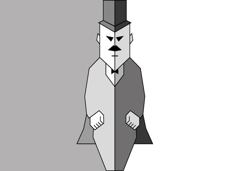 Geometric Man character brockmann polygon poster design branding giveaway flat illustrations man shadows geometric