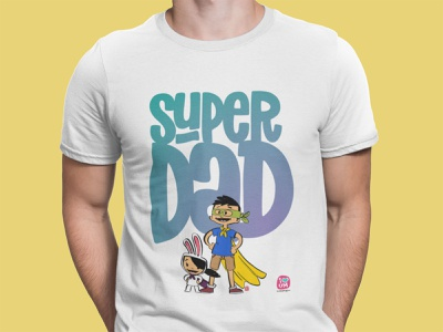 Super Dad 2020 tee branding illustration