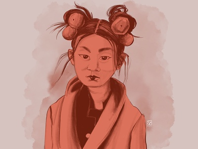 Chinese New Year Girl procreate illustration