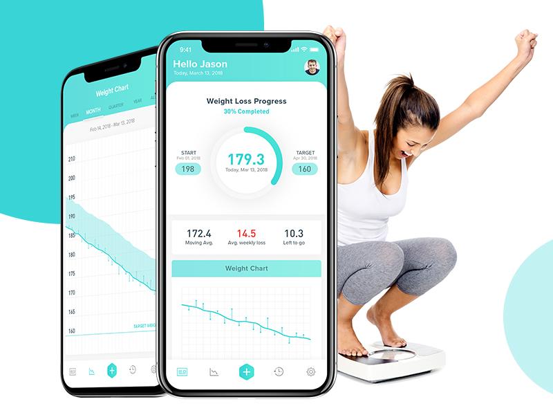 Fitness App deisgn app ux ui dashboard white concept interface weight chart latest ui mobile ui minimal design fitness goal creative app ux design ui design weight tracker weight loss fitness app
